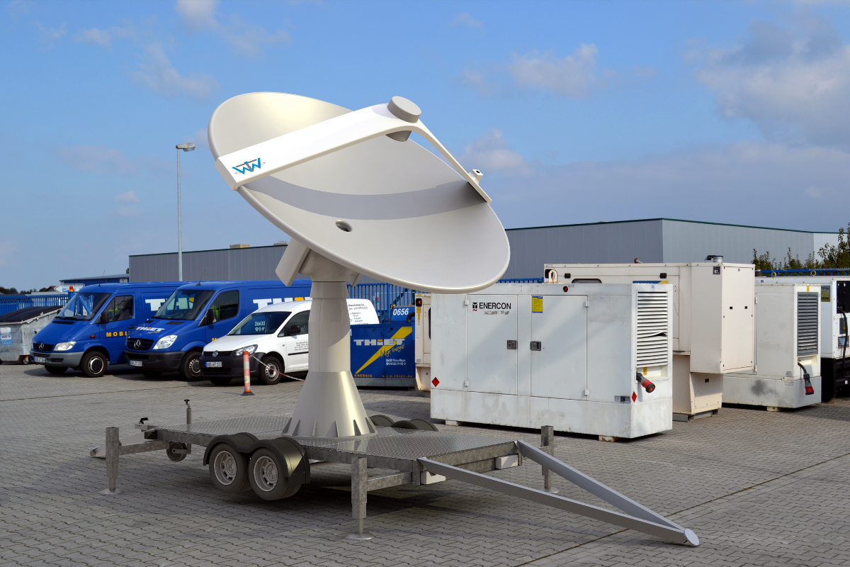 Mobile WTW-L/S 33 Autotracking Antenna on Trailer